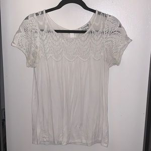 Forever 21 Lace Tee Top in Size Large